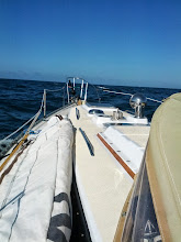 Photo: looking forward after loosing the mast