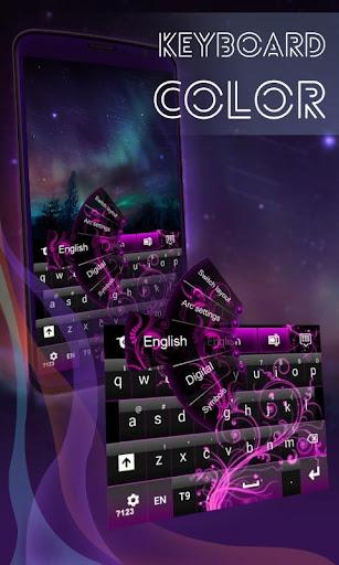 彩色键盘霓虹灯粉红