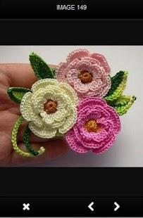 Háčkování květin nápady - náhled