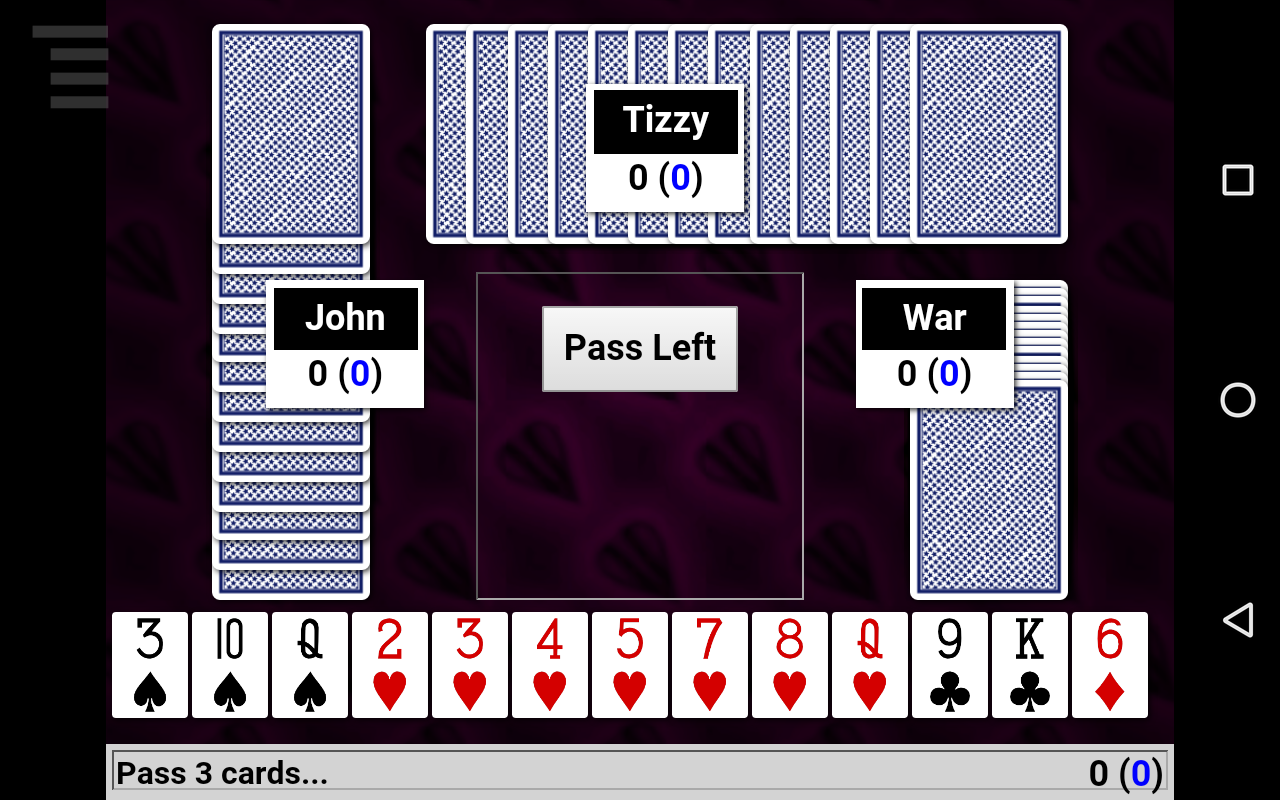 Hearts Card Game- screenshot