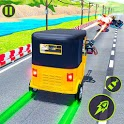 Rickshaw Shooting Game: Auto Highway Racing icon