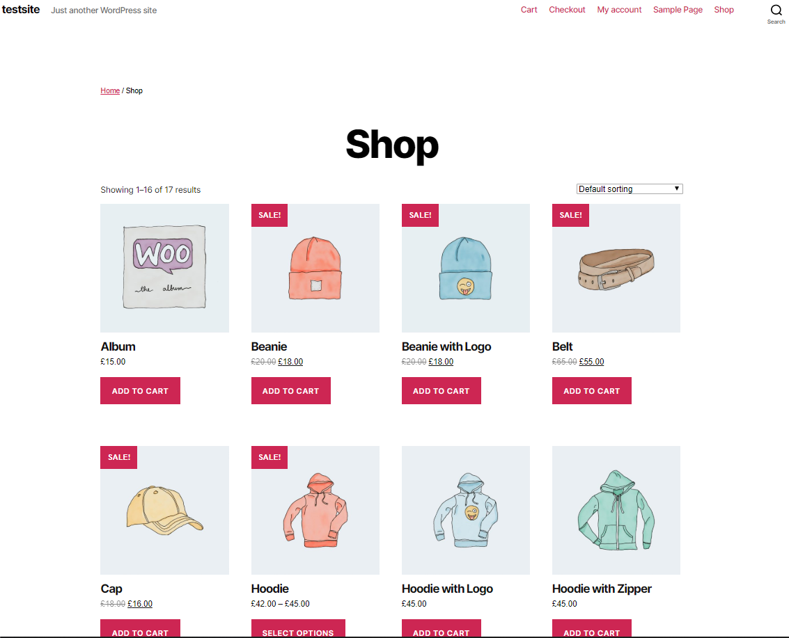 Dynamic WooCommerce product table