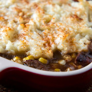 Ground Beef Casserole With Potatoes and Cheese.