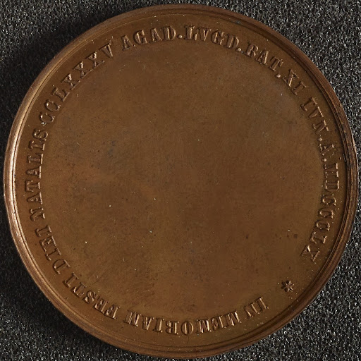Copper medal issued by Leyden University, possibly