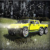 Hummer 6x6 Truck Snow Driving - Offroad Car Racing