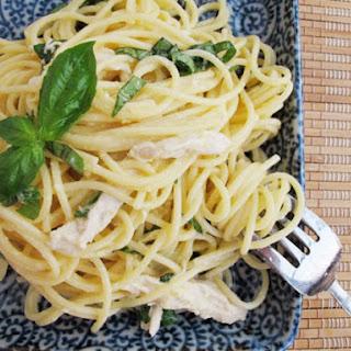 Spaghetti al Limone with Poached Chicken.