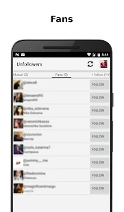 Unfollowers for Instagram: miniatura de captura de pantalla