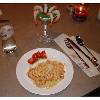 Pesto Shrimp and Pasta