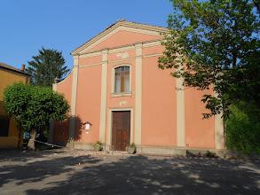 Photo: Chiesa diSammartini: caduta la croce dalla facciata