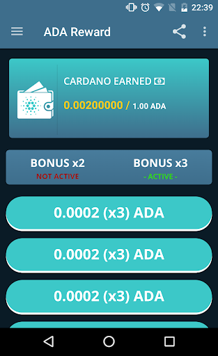 ADA Reward - Earn free Cardano screenshot 1