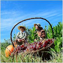 Photo: Figurantes trajados à moda antiga (fotos Evelyne Pereira)