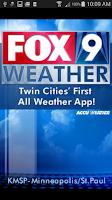 Screenshot of FOX9 Weather