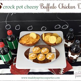Crock Pot Cheesy Buffalo Chicken Dip.