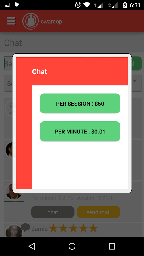 ProvenTherapy Chat App- screenshot