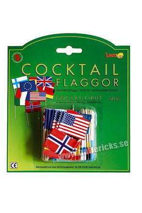 Cocktailflaggor sorterade