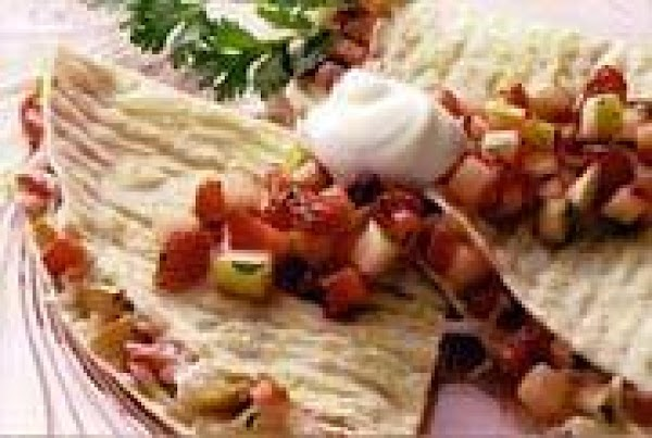 Brunch Quesadillas With Fruit Salsa Recipe