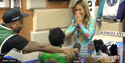 Comedian Michael Blackson proposes to girlfriend on 'The Breakfast Club'