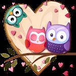 Love Bird Owl Theme Icon
