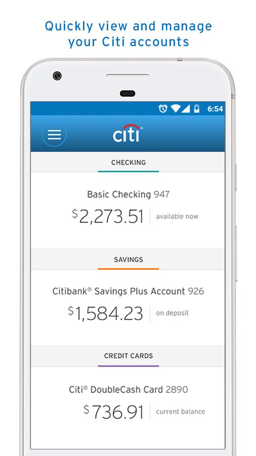 Citi Mobile®- screenshot