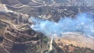 Magnitud del incendio y labores de extinción del del incendio de TerqueTWITTER: PLAN INFOCA