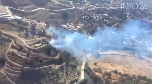 El incendio de Terque arrasa una zona que ya fue calcinada en 1991