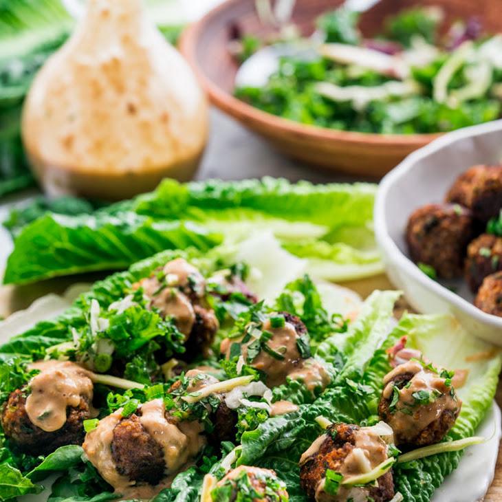 Thai Meatball Lettuce Wraps Recipe