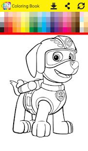 Coloring Book Paw - náhled