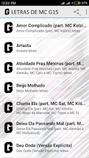 Letras de MC G15 - náhled
