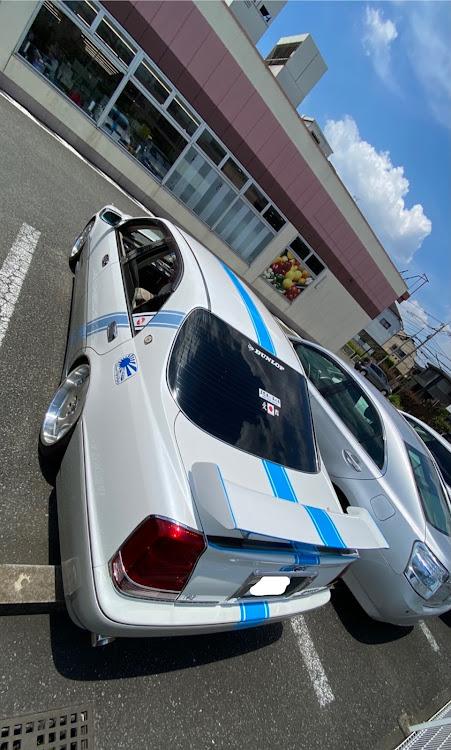クラウンマジェスタ UZS171のクラウンマジェスタ,猛暑日,買い物スーパー駐車場,ラインに関するカスタム&メンテナンスの投稿画像2枚目