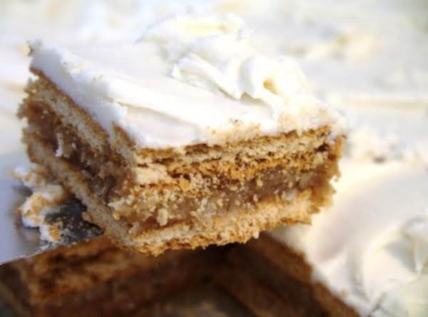 Frosted Coconut Nutty Graham Squares Recipe