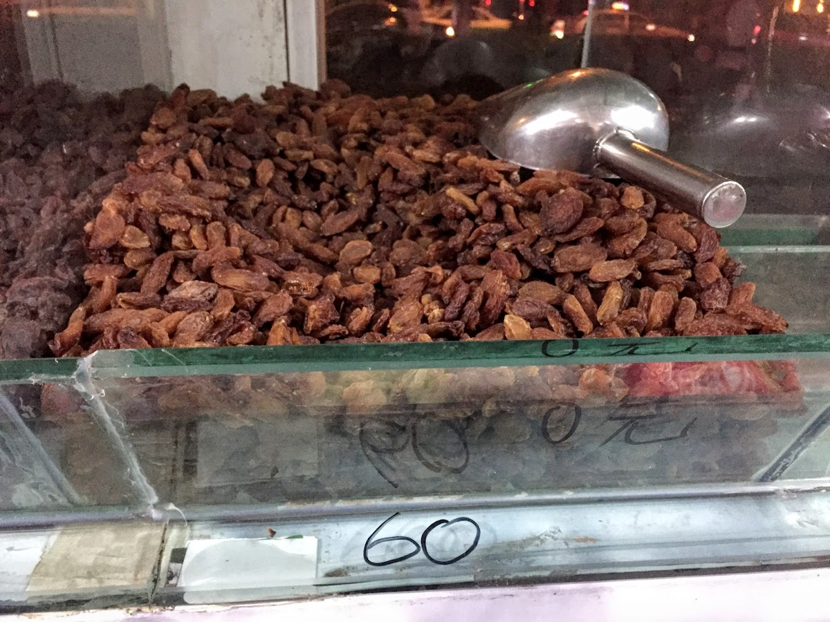 China. Xinjiang Turpan . Raisins Store 60RMB