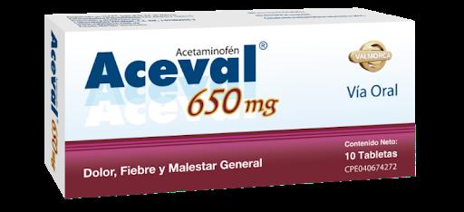 Acetaminofen Aceval 650mg
