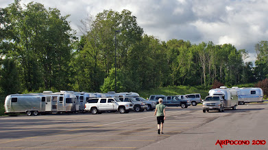 Photo: we gather at a Walmart, near Syracuse, for the night