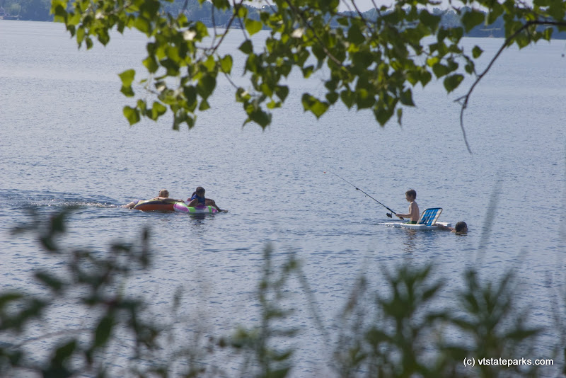 Photo: Fishing and floating at Knight Island State Park