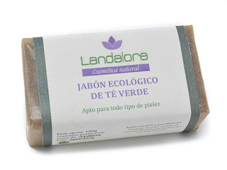 Jabón Natural Té Verde Vegano Landalore