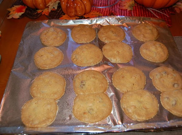 Let cool on cookie sheet then transfer to cooling rack.