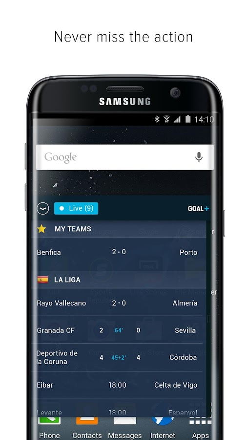 Goal+ for Samsung- screenshot