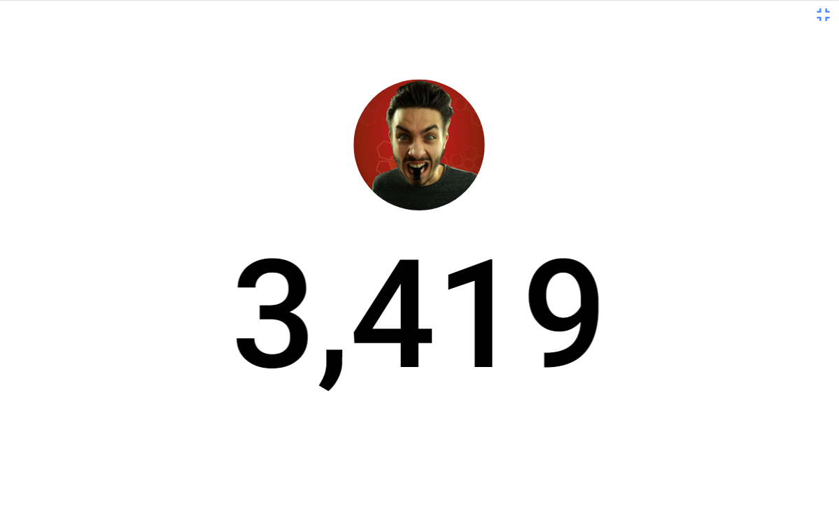 Subscriber count for YouTube - Subscriber count- screenshot