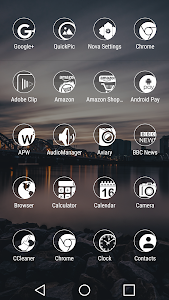 Simp Dark White - Icon Pack screenshot 1