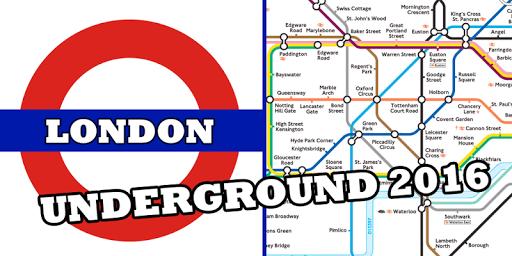 ロンドン地下鉄の地図2016