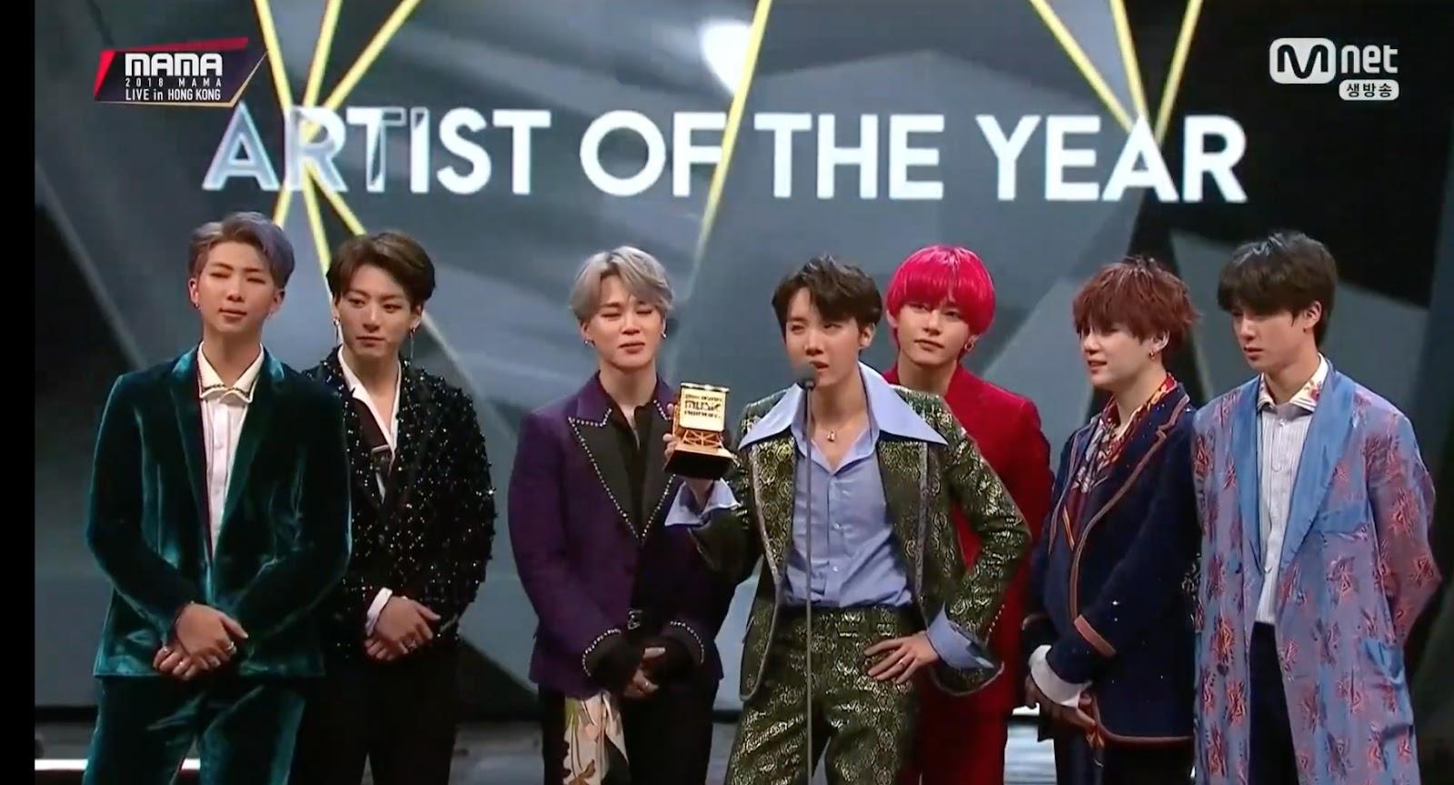 bts 2018 mama winner