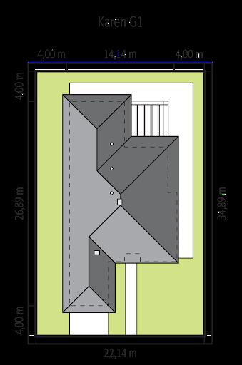 Karen G2 - Sytuacja - wersja domu z garażem jednostanowiskowym