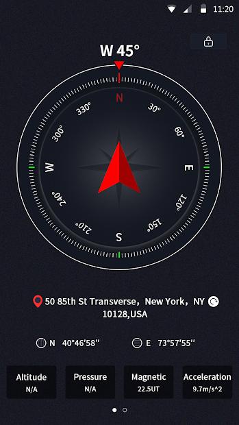 Portable GPS Compass & Bubble Level