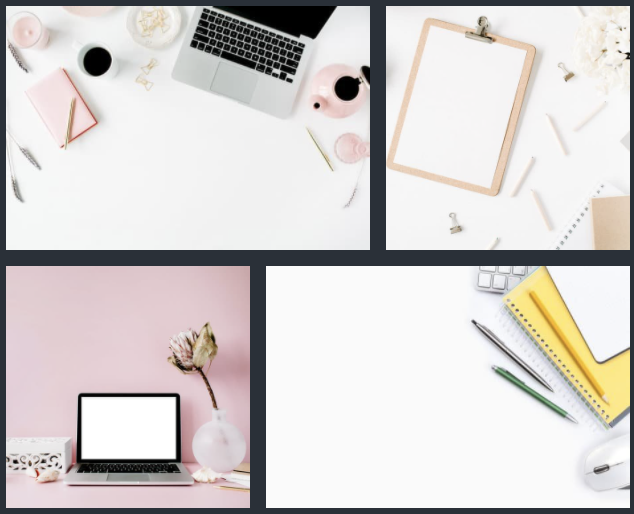 Canva Pro images search results for desk