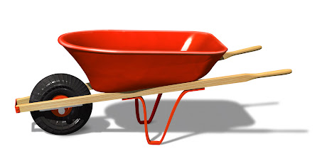 Photo: Red Wheelbarrow --- Image by © Royalty-Free/Corbis