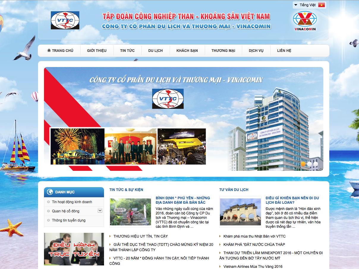 Website thương mại du lịch của một doanh nghiệp độc lập