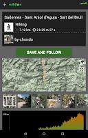 Screenshot of Wikiloc outdoor navigation GPS