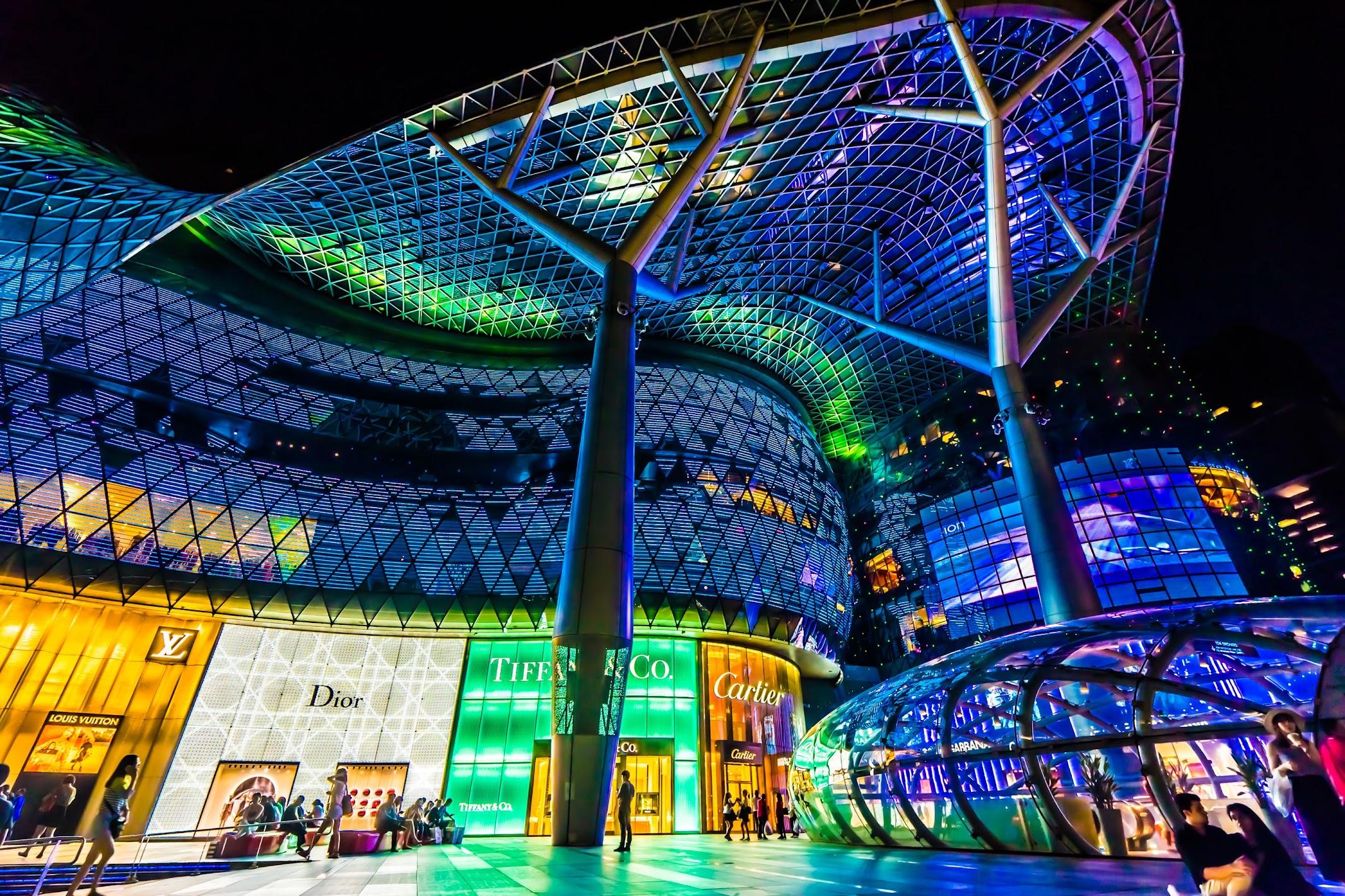シンガポール アイオン・オーチャード(ION Orchard) 夜景(イルミネーション)5