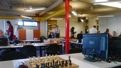 Photo: Tourney room , Richard is at left