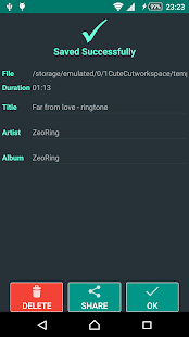 ZeoRing  - Ringtone Editor- screenshot thumbnail